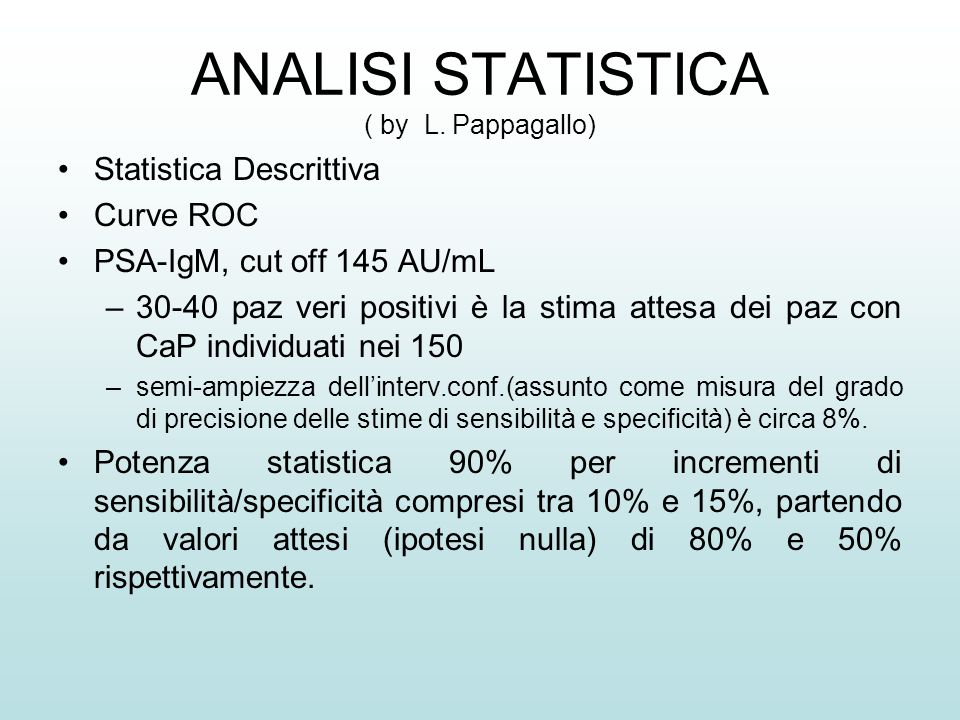 ANALISI STATISTICA ( by L.