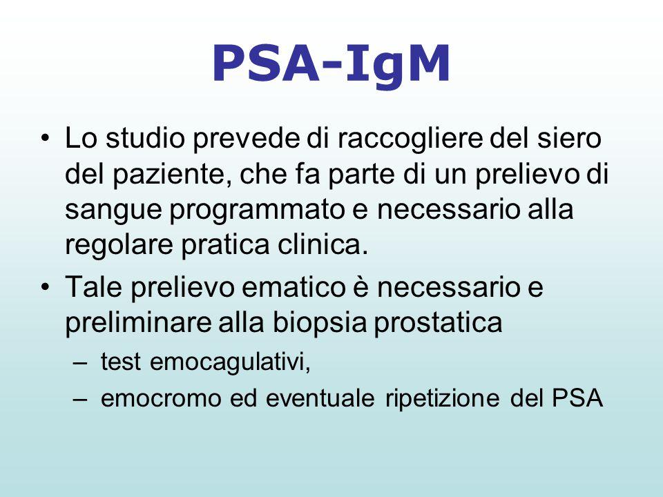 Lo studio prevede di raccogliere del siero del paziente, che fa parte di un prelievo di sangue programmato e necessario alla regolare pratica clinica.