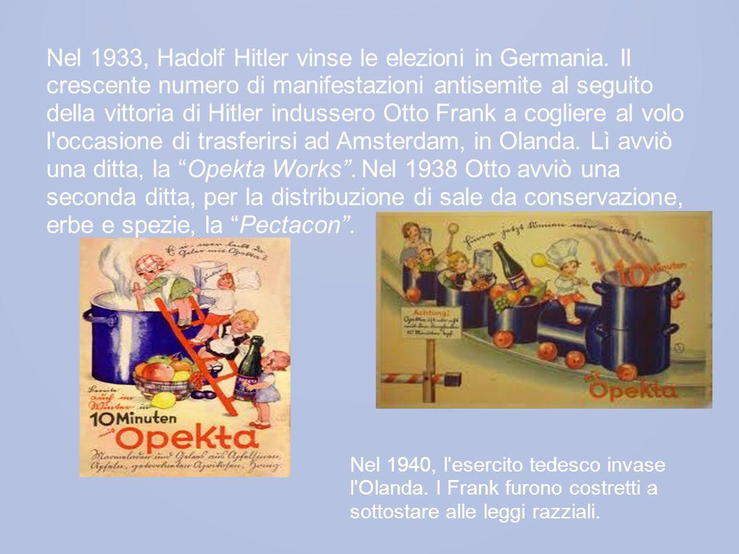 Nel 1933, Hadolf Hitler vinse le elezioni in Germania.