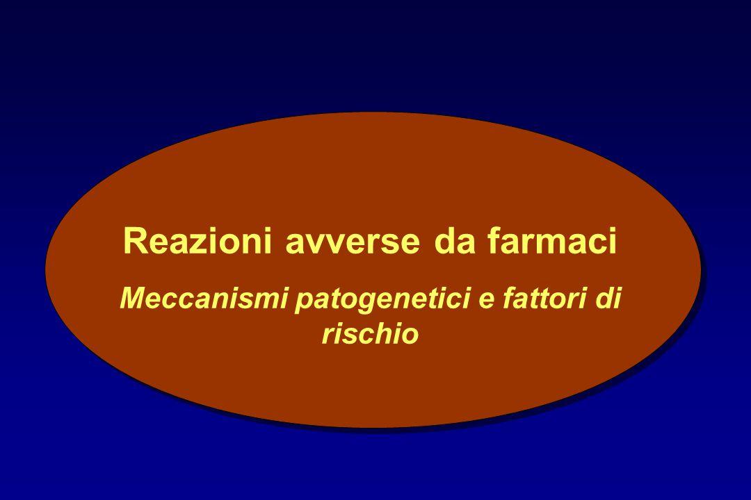 Reazioni avverse da farmaci Meccanismi patogenetici e fattori di rischio