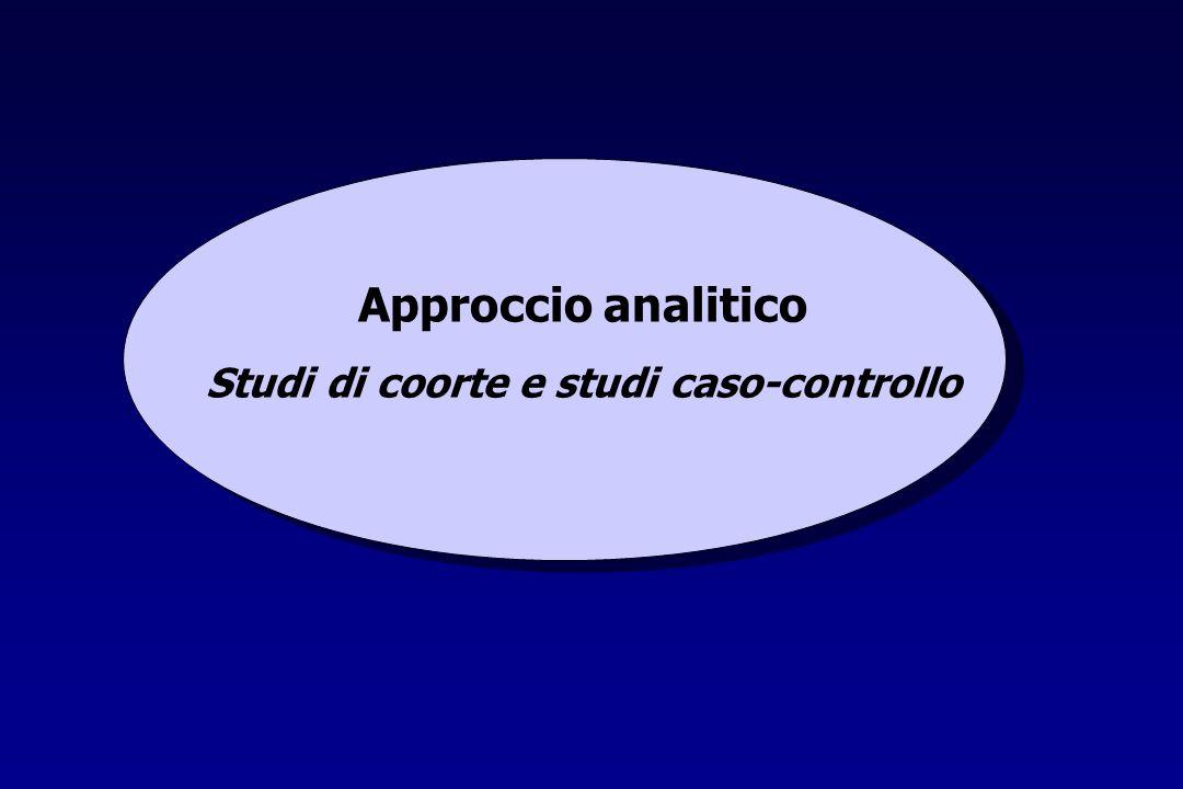Approccio analitico Studi di coorte e studi caso-controllo