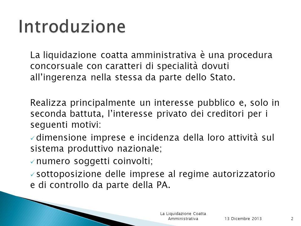 RISOLUZIONE 13 Dicembre 2013 La Liquidazione Coatta Amministrativa53 ANNULLAMENTO L'inadempimento del concordato impone al commissario di chiedere al tribunale di pronunciarne la risoluzione.