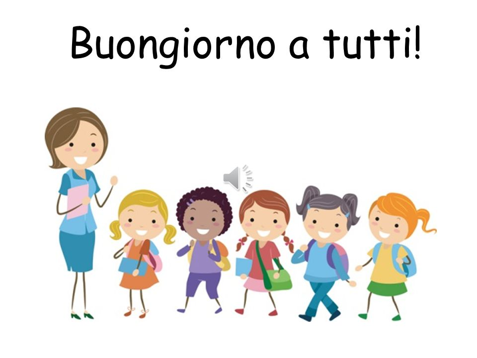 Da notare! Buongiorno, Buona sera and Buona notte Buongiorno is used to greet people during the day until about half past five/six o'clock Buonasera i