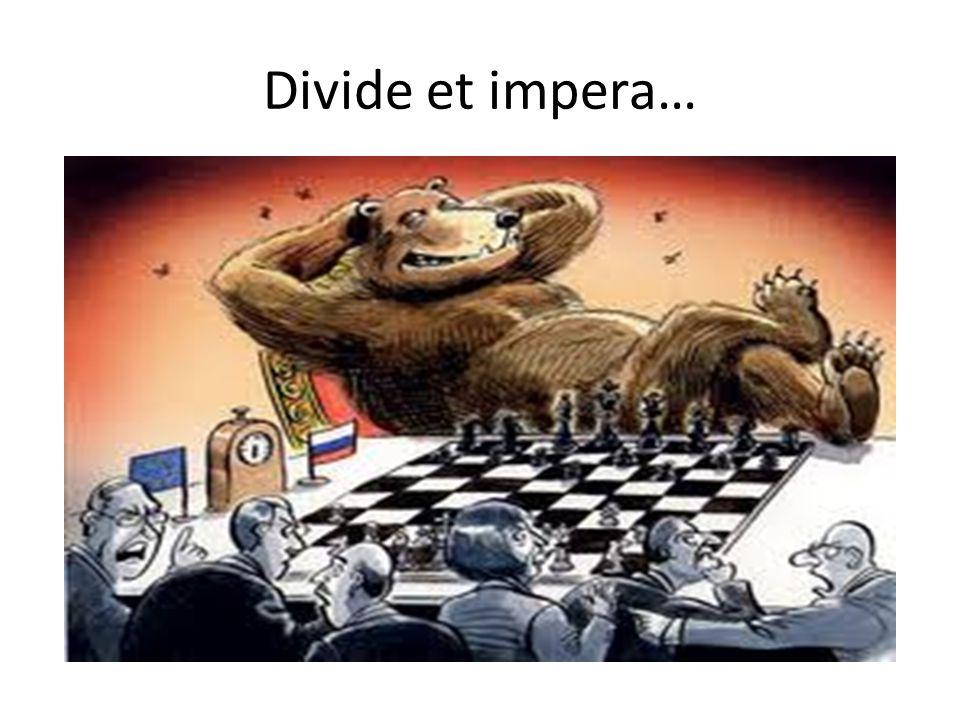 Divide et impera…