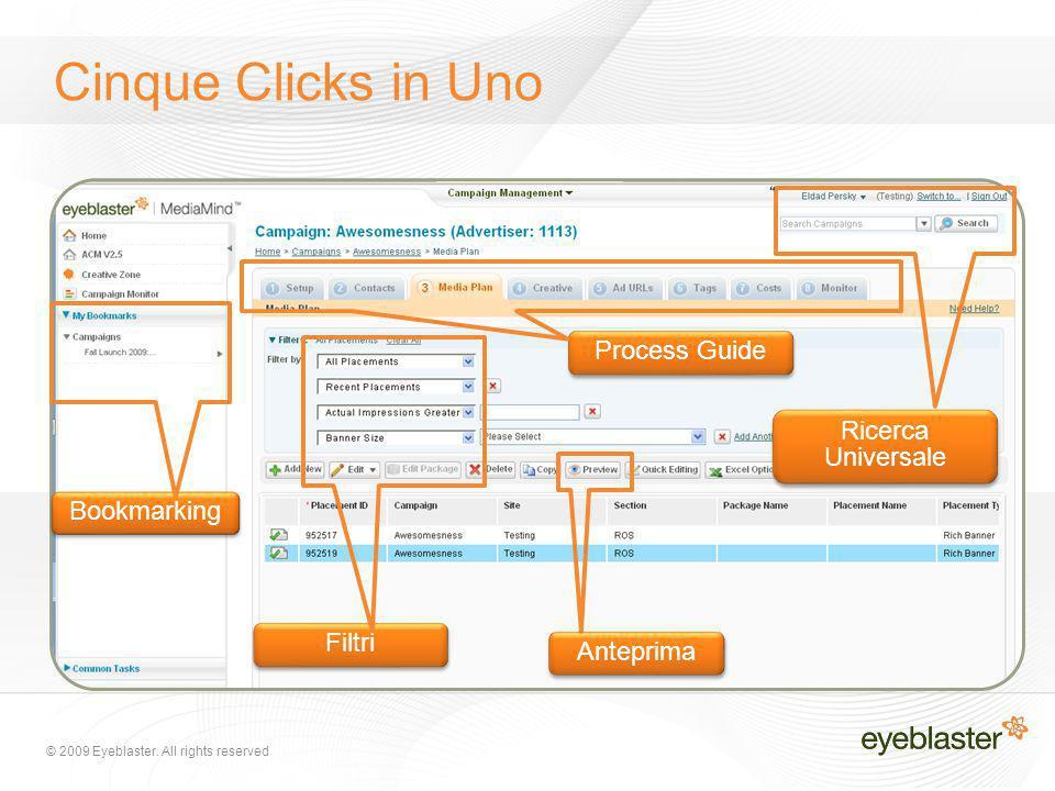 Process Guide Ricerca Universale Filtri Bookmarking Anteprima Cinque Clicks in Uno