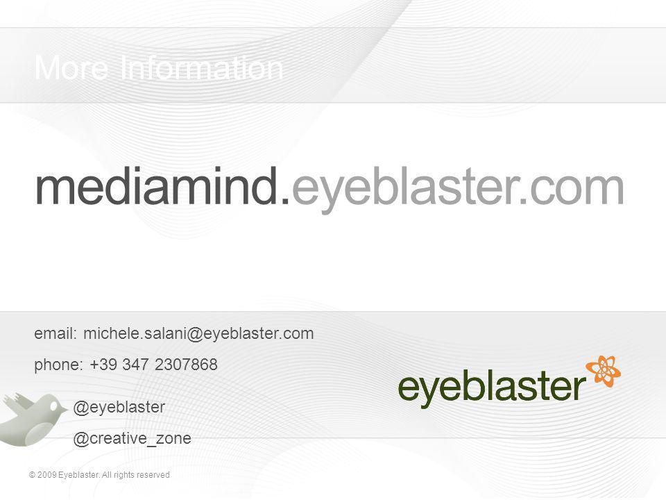 © 2009 Eyeblaster.