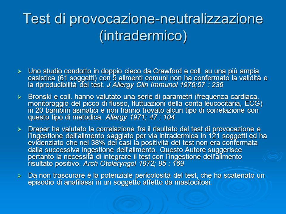  Uno studio condotto in doppio cieco da Crawford e coll.