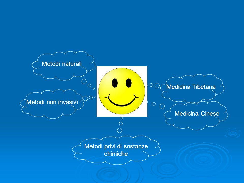 Metodi naturali Metodi non invasivi Metodi privi di sostanze chimiche Medicina Tibetana Medicina Cinese