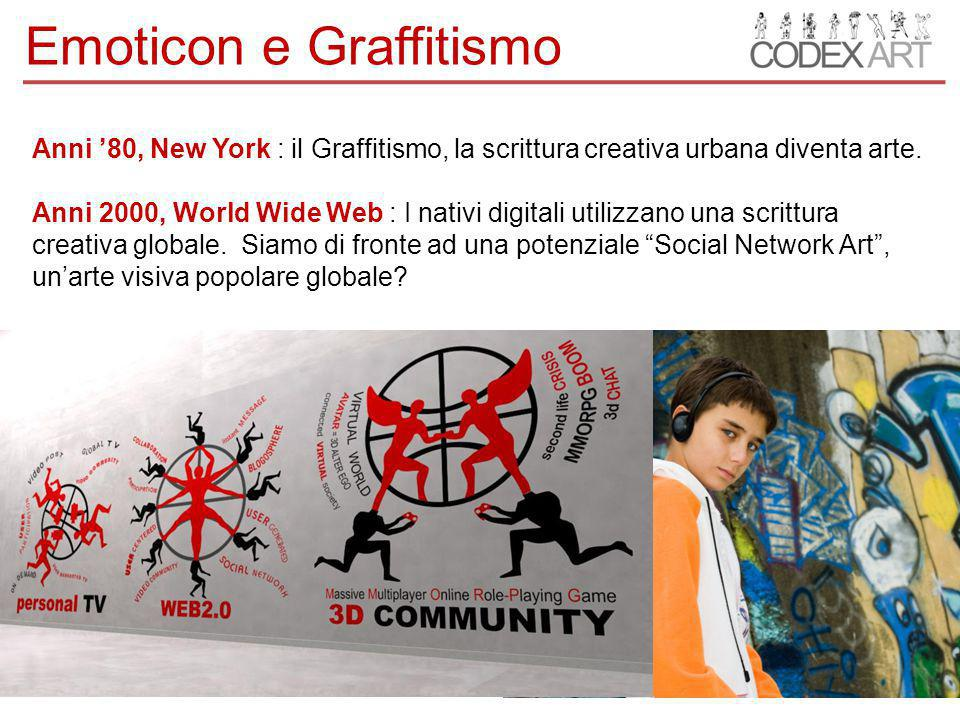 Anni '80, New York : il Graffitismo, la scrittura creativa urbana diventa arte.
