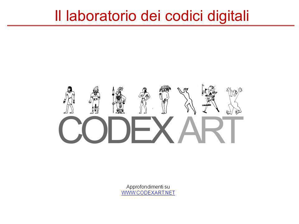 Approfondimenti su WWW.CODEXART.NET Il laboratorio dei codici digitali
