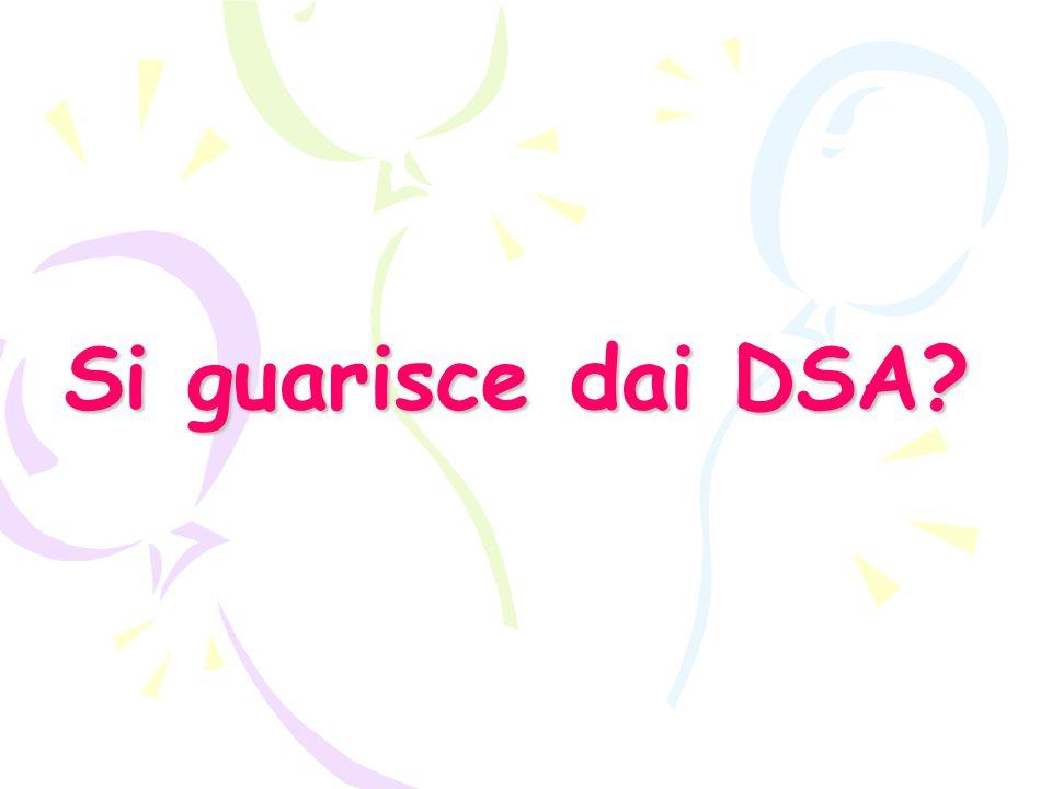 Si guarisce dai DSA?