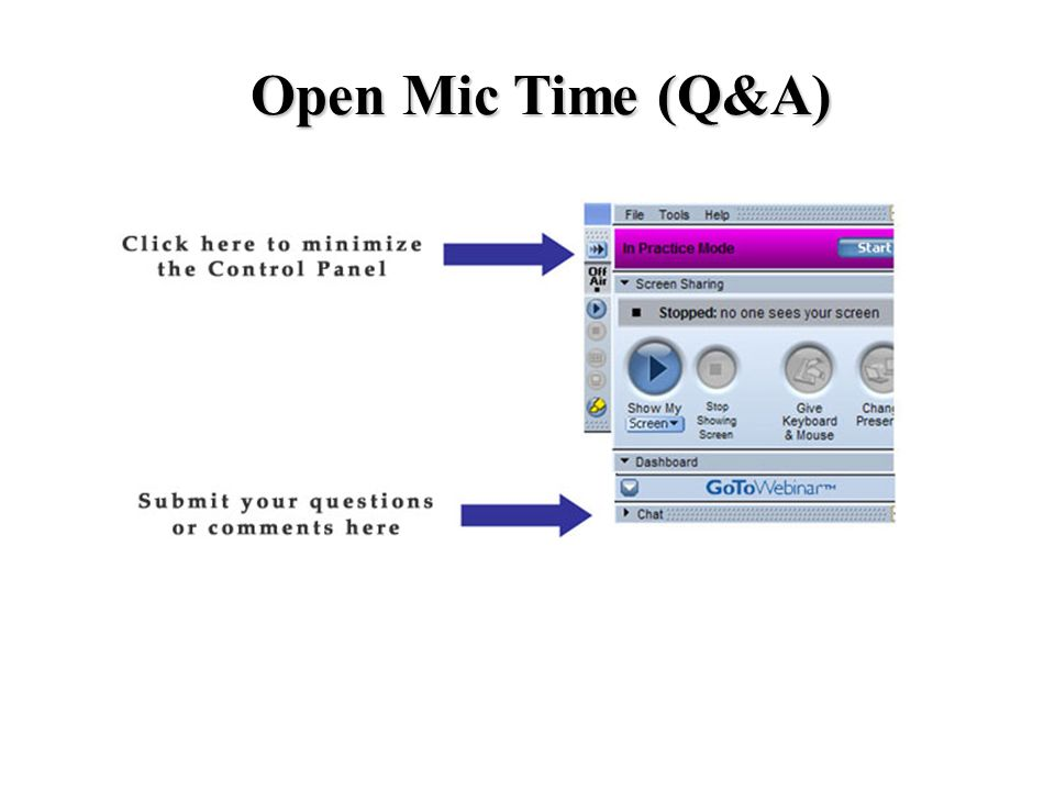 Open Mic Time (Q&A)