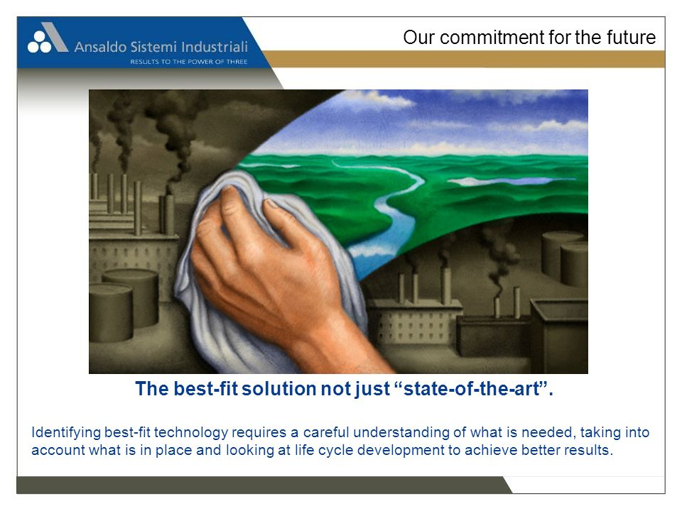 Our commitment for the future The best-fit solution not just state-of-the-art.