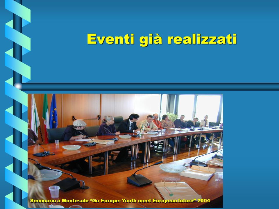 Eventi già realizzati Seminario a Montesole Go Europe- Youth meet European future Seminario a Montesole Go Europe- Youth meet European future 2004