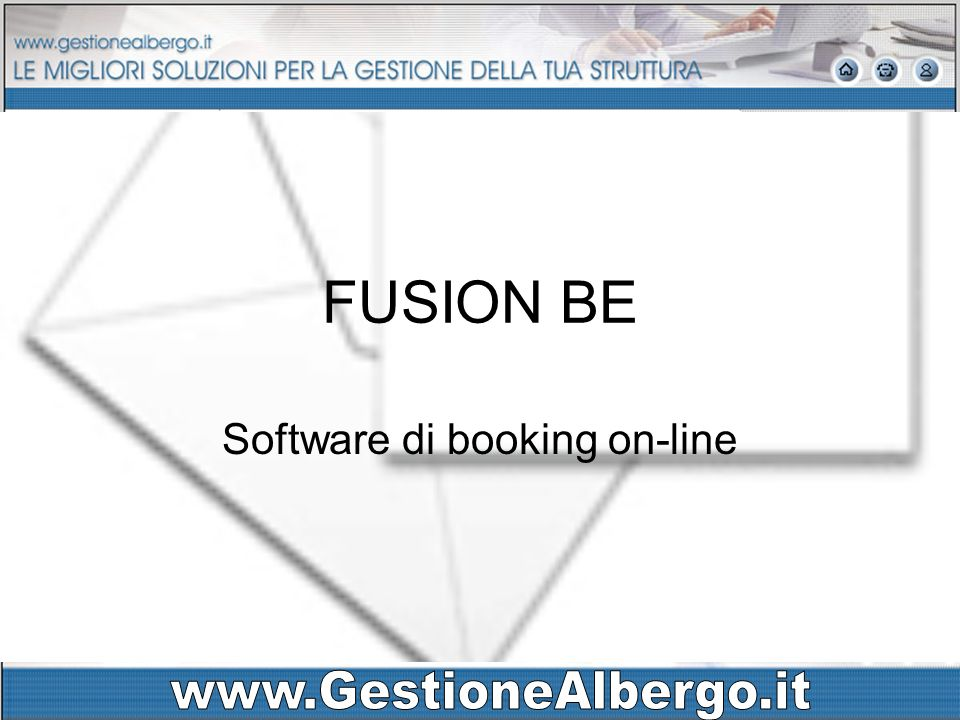 FUSION BE Software di booking on-line