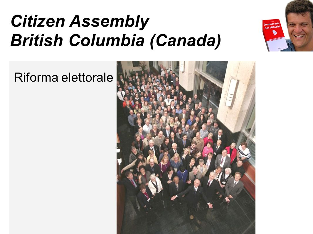 Citizen Assembly British Columbia (Canada) Riforma elettorale