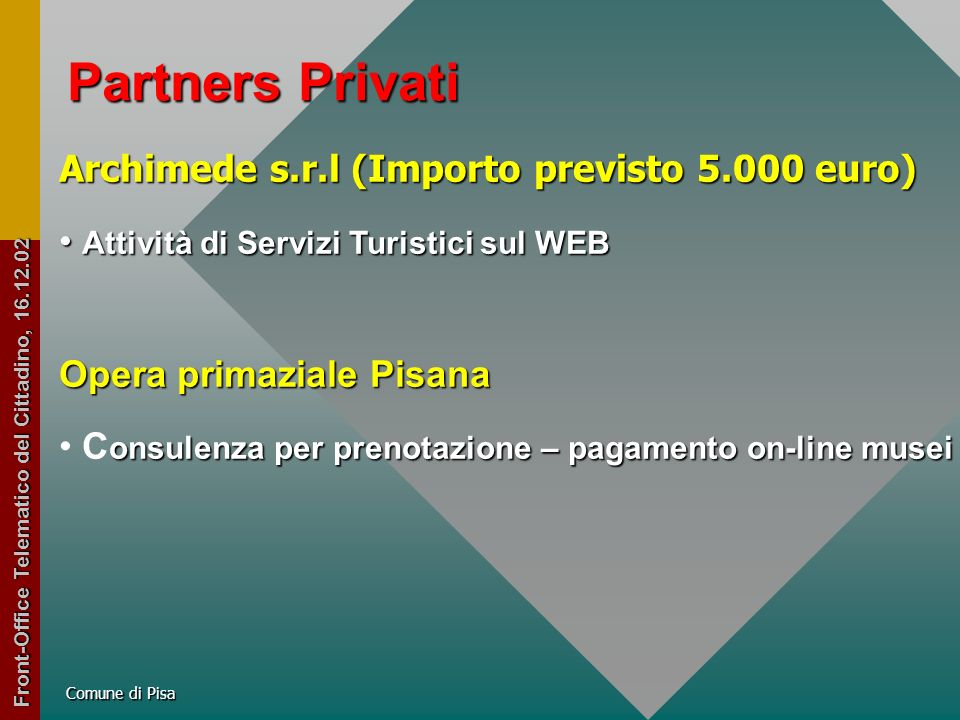 Partners Privati Ages S.P.A.