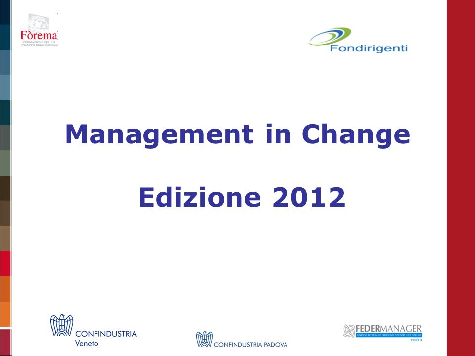 Management in Change Edizione 2012
