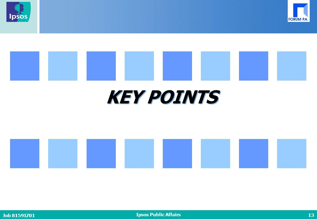 13 Job 8159IZ01 Ipsos Public Affairs KEY POINTS