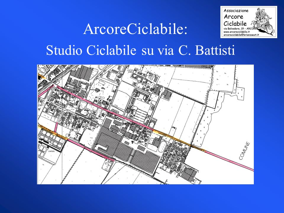 ArcoreCiclabile: Studio Ciclabile su via C. Battisti