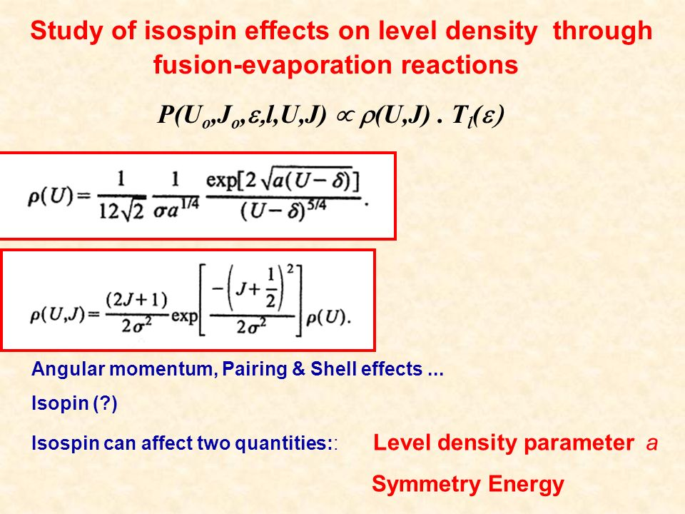Angular momentum, Pairing & Shell effects...