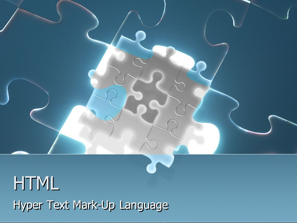 HTML Hyper Text Mark-Up Language