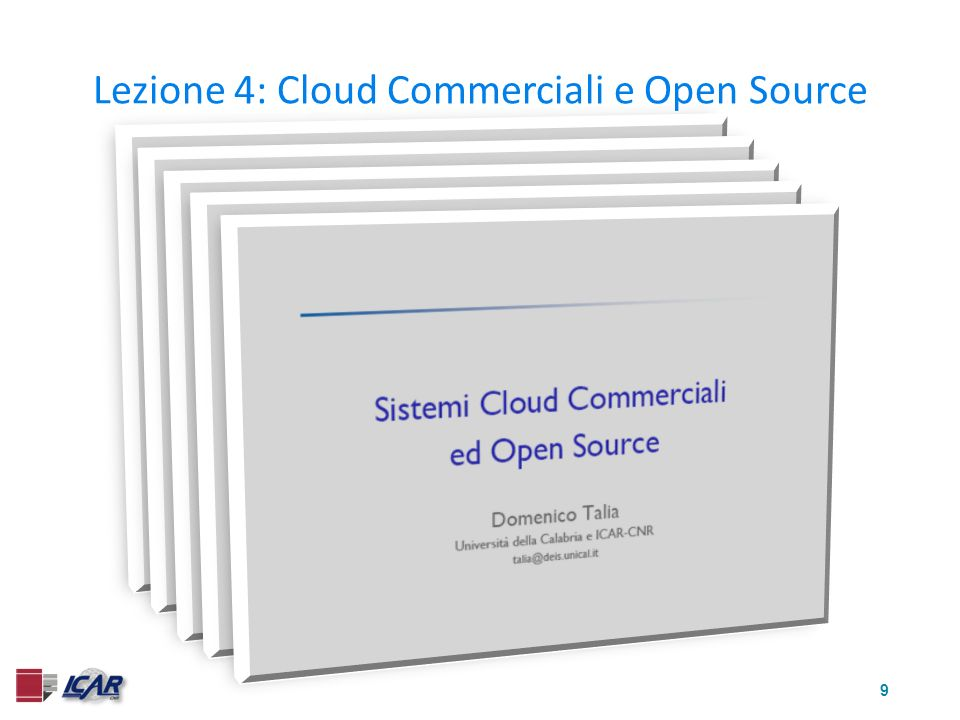 9 Lezione 4: Cloud Commerciali e Open Source