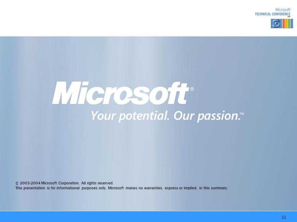 33 © Microsoft Corporation. All rights reserved.