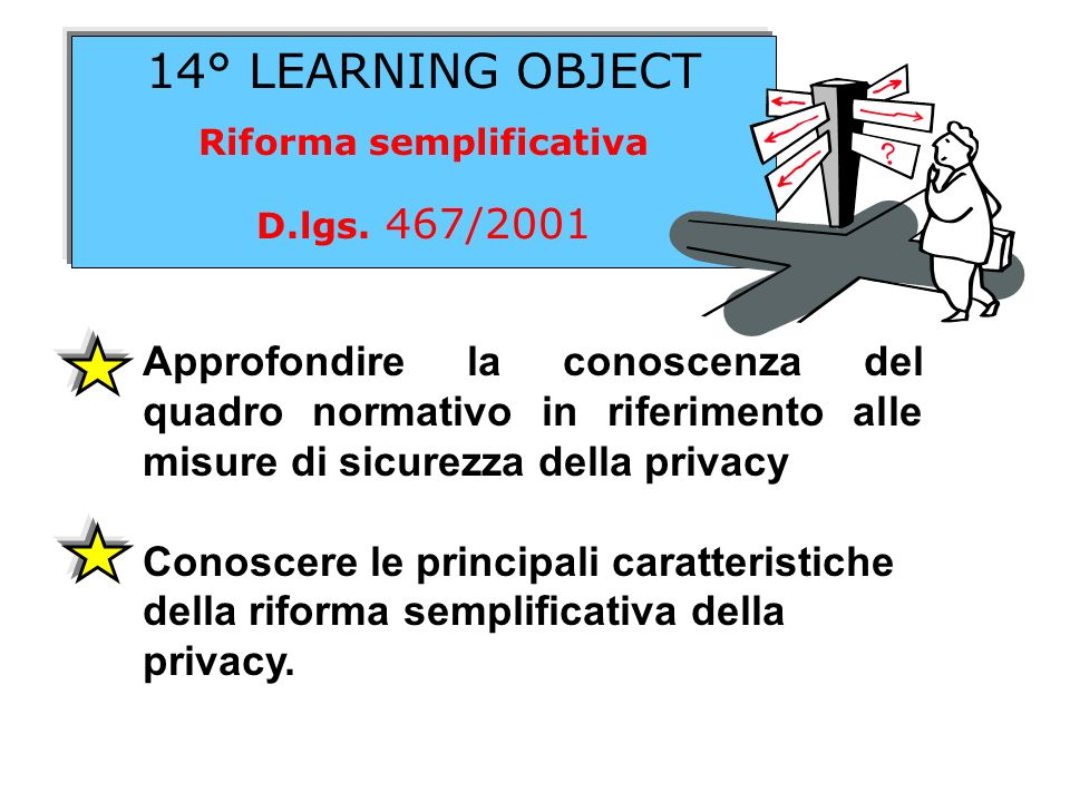 14° LEARNING OBJECT Riforma semplificativa D.lgs.