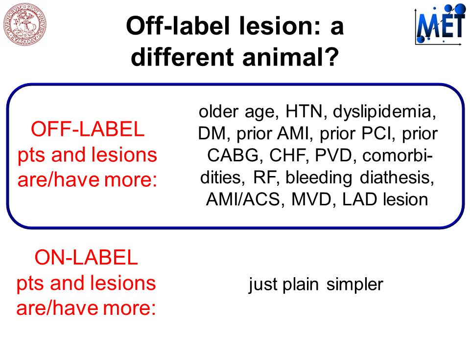Off-label lesion: a different animal.