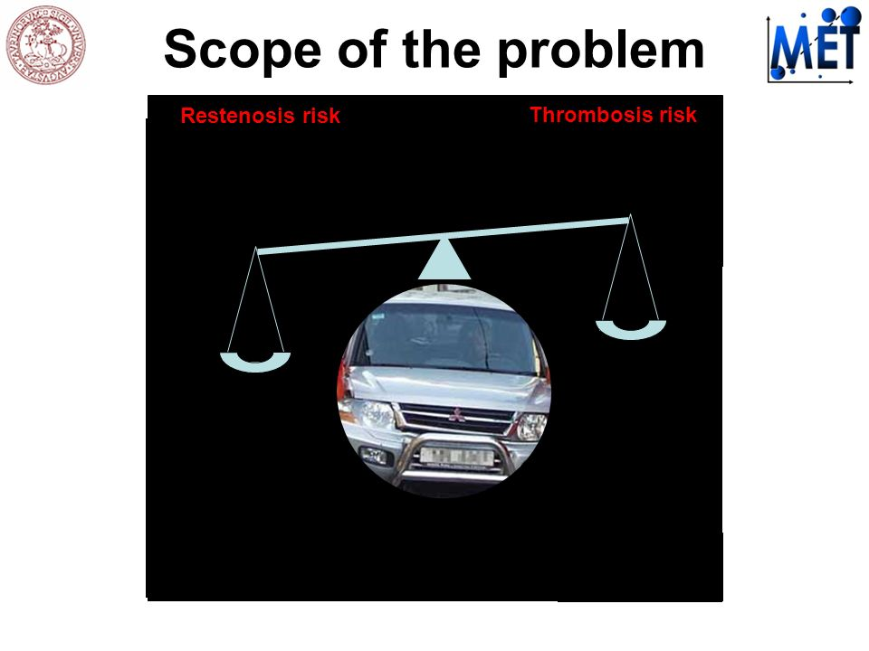 Scope of the problem Restenosis risk Thrombosis risk