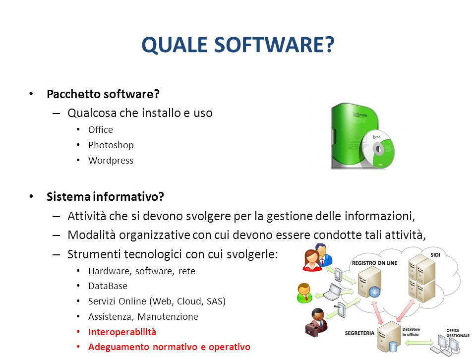 QUALE SOFTWARE. Pacchetto software.