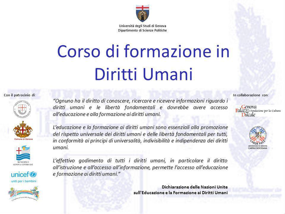 Unite Genova Calendario.Universita Degli Studi Di Genova Dipartimento Di Scienze