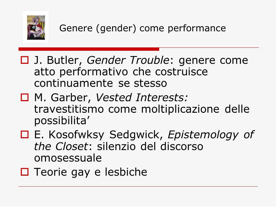 Genere (gender) come performance J.