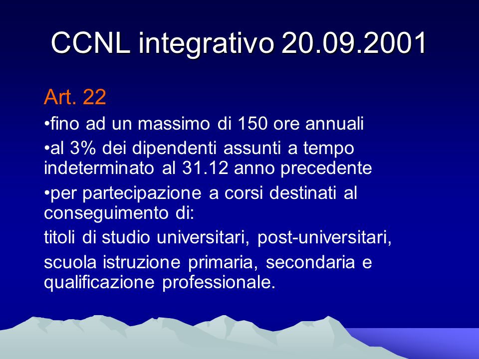 CCNL integrativo Art.