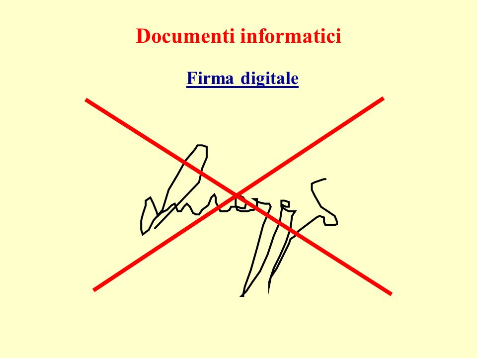 Documenti informatici Firma digitale