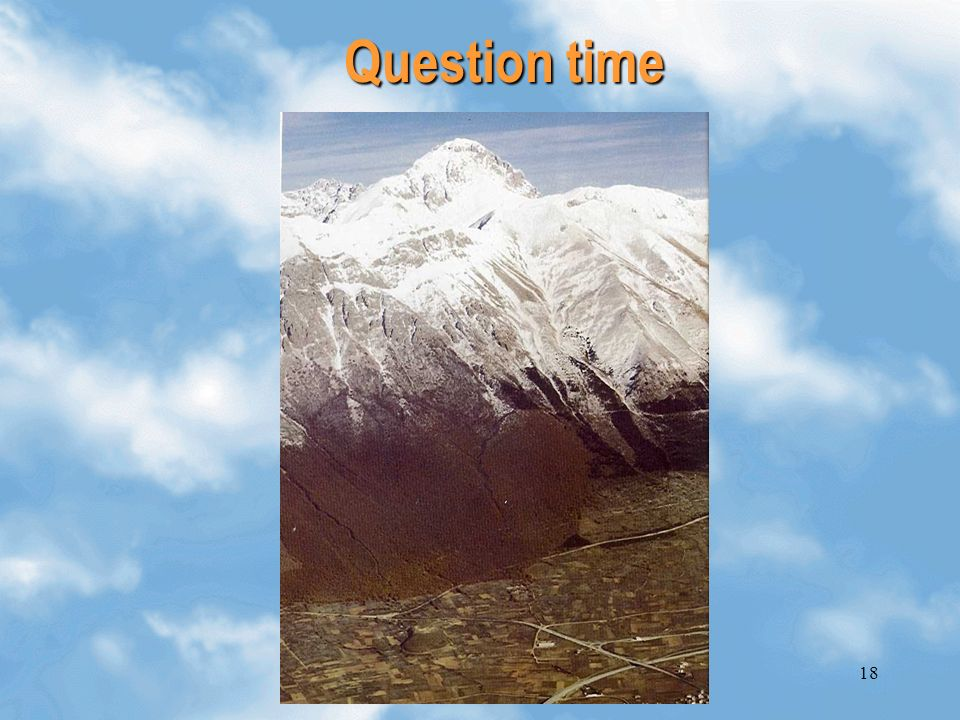 18 Question time