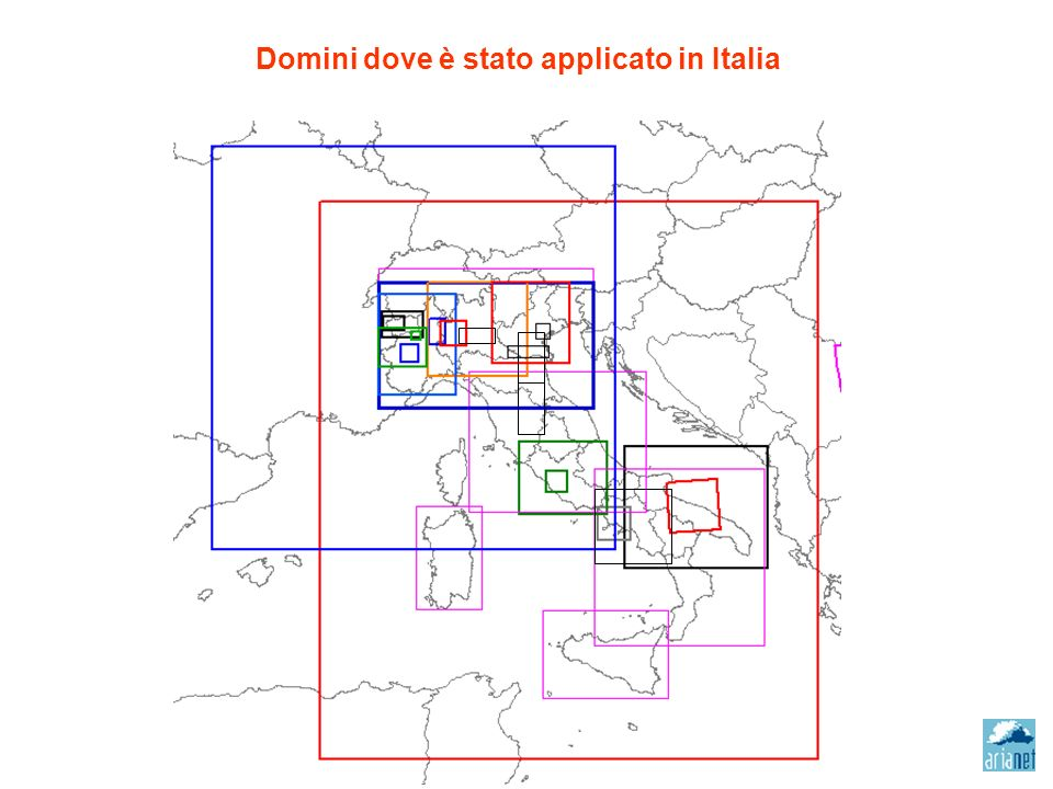 Domini dove è stato applicato in Italia