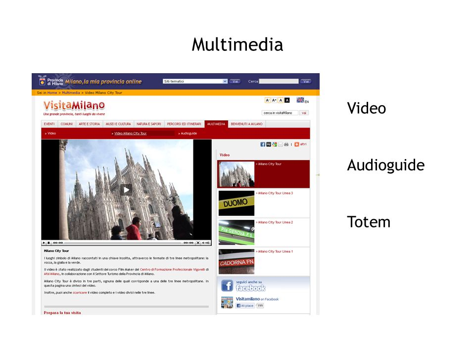Multimedia Video Audioguide Totem