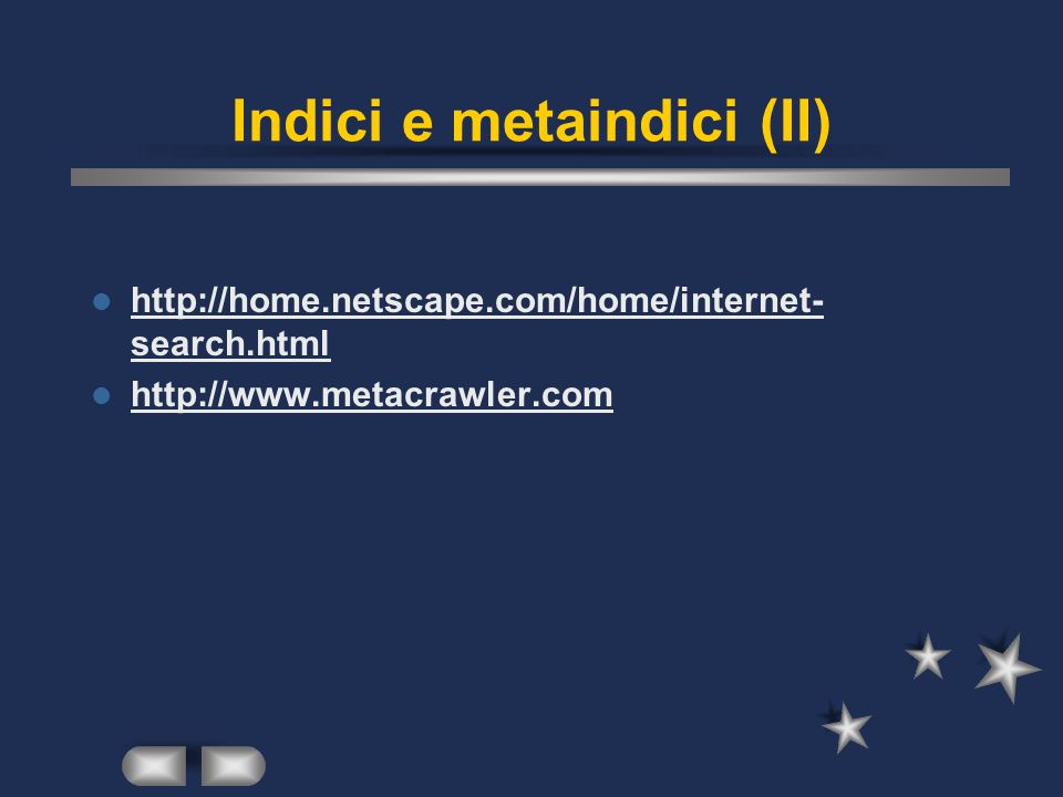 Indici e metaindici (II)   search.html   search.html