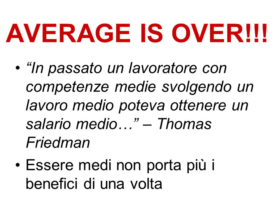 AVERAGE IS OVER!!.