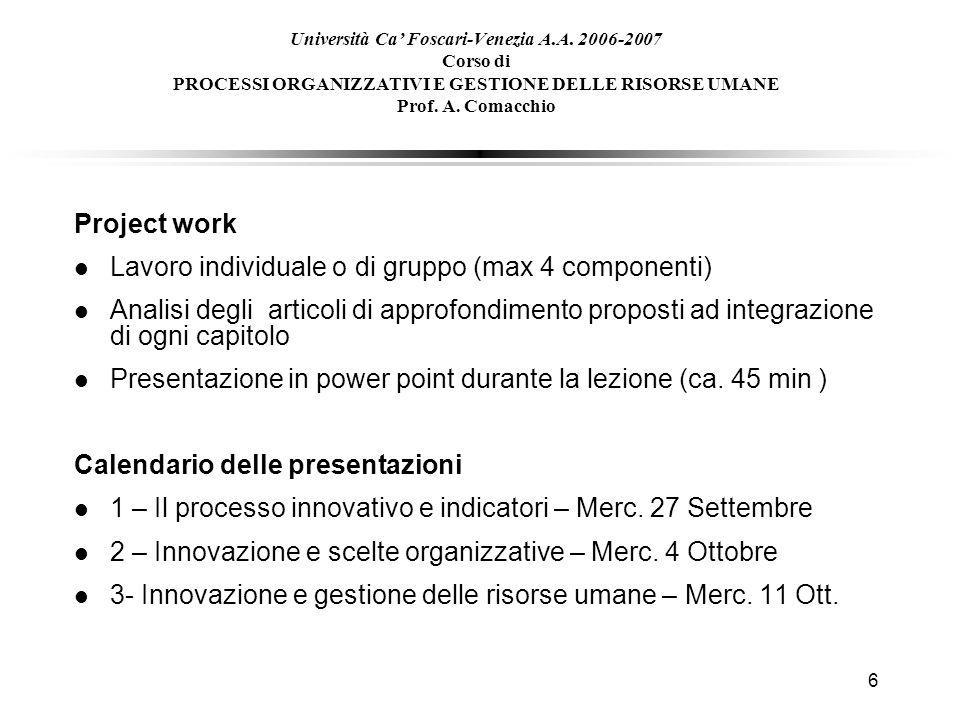 Calendario Appelli Unive.1 Universita Ca Foscari Venezia A A Corso Di Processi