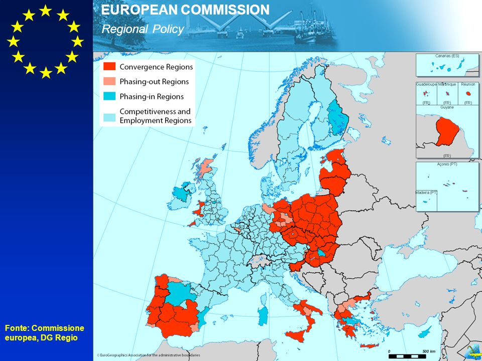Regional Policy EUROPEAN COMMISSION Fonte: Commissione europea, DG Regio