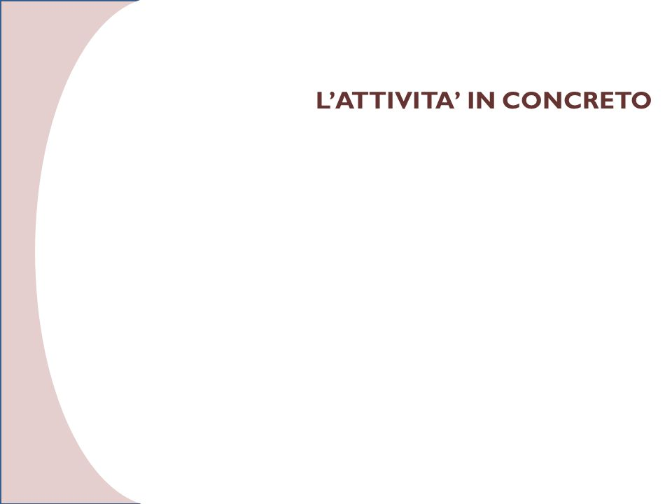 LATTIVITA IN CONCRETO