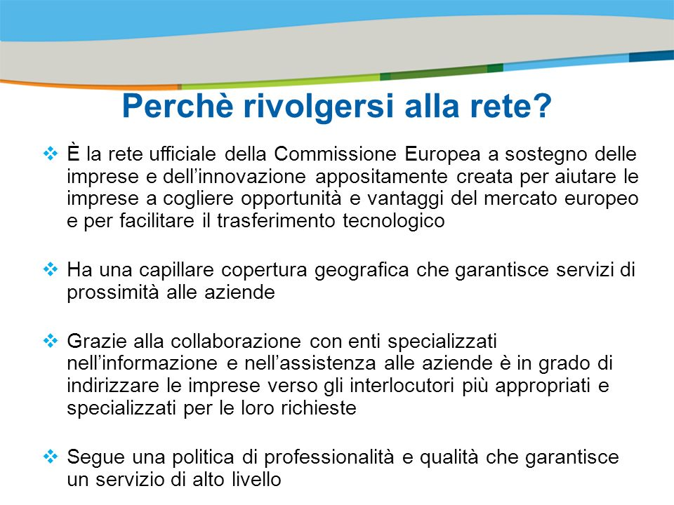 Title of the presentation | Date |# Perchè rivolgersi alla rete.