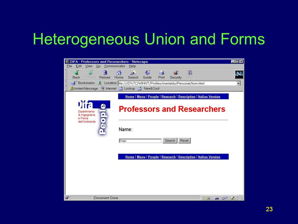23 Heterogeneous Union and Forms