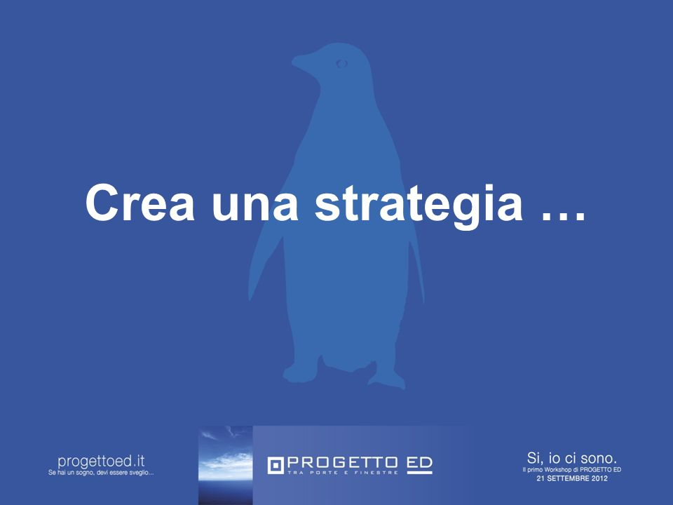 Crea una strategia …