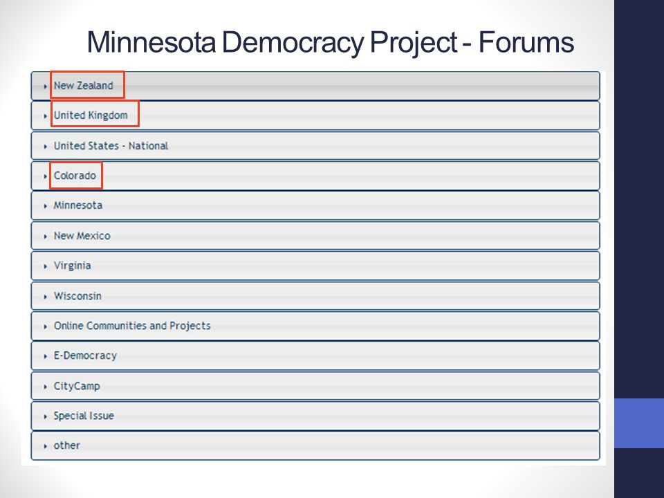 Minnesota Democracy Project - Forums