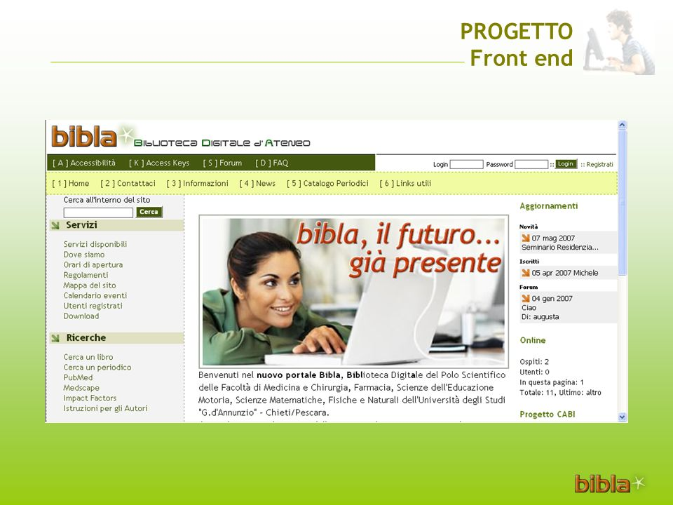 PROGETTO Front end