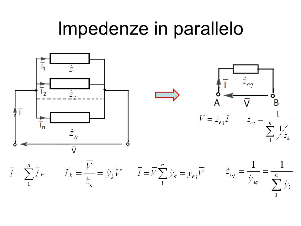 Impedenze in parallelo